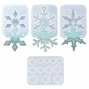 Snowflake Silicone Casting Molds DAYREE 4 PCS Christmas Theme Resin Molds for...