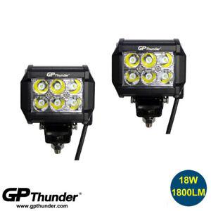 "2pcs 4"" 18W LED Work Light Bar SPOT Beam Offroad Driving Fog Lamp ATV SUV"