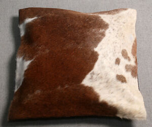 NEW COW HIDE LEATHER​ CUSHION COVER RUG COW SKIN Cushion Pillow Covers C-1535