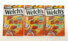 Welch's Strawberry Peach ~ 6 Packets ~ Low Calorie ~ Drink Mix ~ Lot of 3