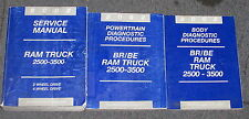 2002 Dodge Ram Truck 2500 3500 Service Manual Set 3 Vol BR BE