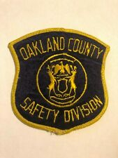 Oakland County Michigan MI Safety Division Police Sheriff Patch
