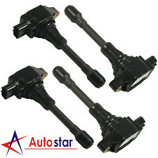 4pcs Ignition Coils Set UF-549 22448-ED000 For Nissan Sentra Altima Cube Rogue