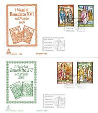 VATICANO - 2007 - I viaggi del Papa Benedetto XVI nel 2006 su 2 FDC Capitolium