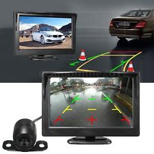 Coche 5'' LCD Monitor 170° Vista Trasera Cámara de Marcha Atrás Vision Nocturna