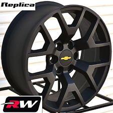 "Chevy Tahoe Wheels 24"" inch 2014 2015 GMC Sierra Satin Black Rims Tahoe Suburban"