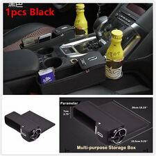 1xPU Car Seat Gap Slit Filler Pocket Catch Catcher Box Coin Storage Cup Holder