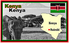 Kenya, Africa, MAPPA & BANDIERA - Negozio di souvenir novità