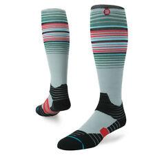 Stance Men Grey Black OTC Compression Nylon Striped Fusion Snow Cecret Socks M