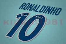 Barcelona Ronaldinho #10 2003-2004 Awaykit Nameset Printing