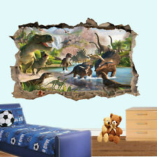 DINOSAUR DINASOURS WALL STICKERS TRANSFER ART MURAL DECAL ROOM POSTER DECOR TK8