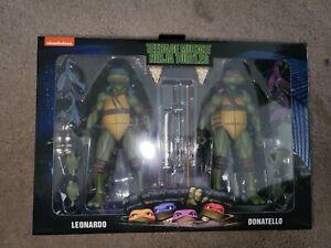 NECA TMNT 1990 Movie Leonardo & Donatello Nickelodeon Walmart 2 Pack