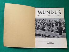 D6> MENSILE - MUNDIS - N.9 DICEMBRE 1966
