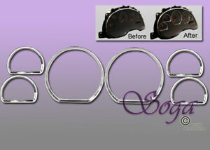 FOR 1994-2004 FORD MUSTANG DASH CLUSTER GAUGE TRIM RINGS BEZEL 6PCS US SELLER GT