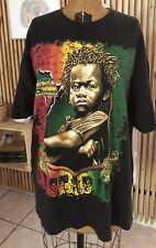 Vintage African Black Power Rasta Revolution Rastababy All Over Print Malcolm X
