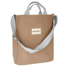 Wrapables Canvas Tote Bag for Women, Casual Cross Body Shoulder Handbag