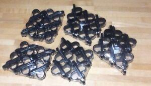50 x 20MM Black  Plastic Pvc Conduit Saddles