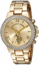 U.S. Polo Assn. Women'S Gold-Tone Analog-Quartz Watch With Alloy Strap, 8 (Model