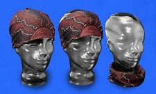 Australian Souvenir Scarf Aboriginal Art Design Unisex Headscarf - Fire & Water