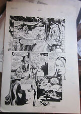 SWAMP THING lg size Comic Art from DC Tomas Yeates 1989 w Etrigan +the comicFREE