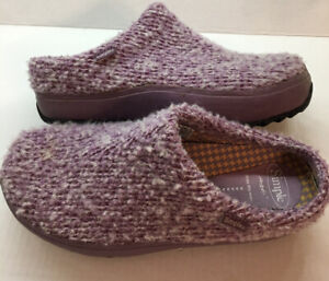 Simple Pedbed Woven Lavender Women's Slip On Sport Clogs Mules Shoes Size 9.5