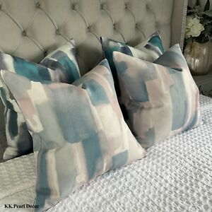 Cushion Pillow Cover & John Lewis & Partners LIVIA Fabric , Pastel Abstract