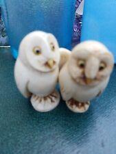Harmony Kingdom nice 2 Owl owls Trinket Box Figurine