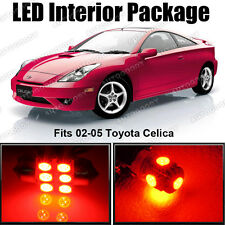 6x Premium Red LED Lights Interior Package Deal Toyota Celica 2002-2005