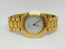 Alfex Ladies Gold Tone Stainless Steel Case Silver Dial Swiss Made Watch