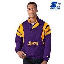 Los Angeles Lakers Starter IMPACT THROWBACK Half-Zip Pull Over Jacket - Purple