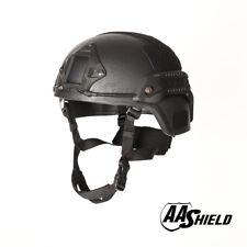 AA Shield Ballistic MICH Tactical Helmet Bulletproof Aramid Safety IIIA Black
