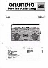 Service Manual-instrucciones para Grundig RR 650, RR 660