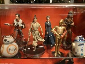 star wars figurine Set Disney Authentic New Unopened  Bb8 R2d2 Rey