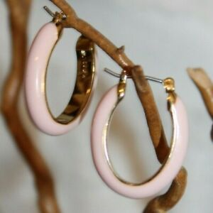 New J.Crew Pink / Peach oval hoop earrings