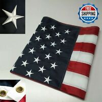 3' x 5' FT Embroidered U.S.A. American Flag with Brass Grommets new HIGH QUALITY