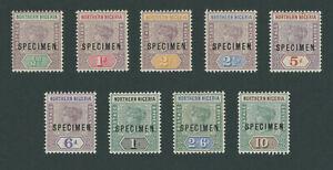 Northern Nigeria 1900 Queen Victoria Specimen set SG1-9