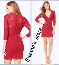 NWT bebe Scallop Lace Plunge Dress SIZE XL Super-seductive, classy and sexy $160