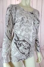 CHARLOTTE TARANTOLA Sweater M Anthropologie Sheer Thin Cotton Button Front CHIC!