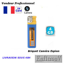 BRIQUET FACTICE CAMERA +4Go ESPION PHOTO 1280x1024 DETECTION SONORE