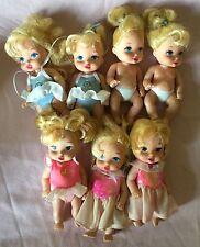 Disney ROYAL NURSERY mini baby princess doll lot princesses babies lot Of 7