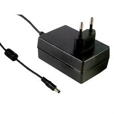 Alimentation enfichable 18W 12V 1,5A ; MeanWell GS18E12-P1J ; EU-Plug 5,5/2,1mm