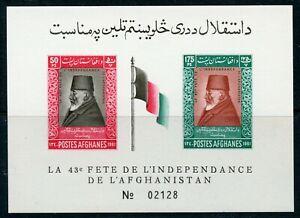 Afghanistan Scott 508-509 Nadir Shah ss  MNH 1961