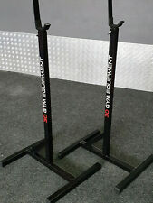 IN STOCK ADJUSTABLE SQUAT RACK 3D GYM EQUIPMENT 300KG WEIGHTS TESTED BENCH STAND