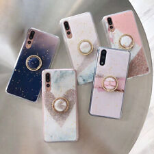 Heart Gold Foil Magnetic Kickstand Ring Holder Phone Case Soft Cover For iPhone