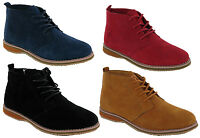 Mens New Leather Suede Desert Lace Up Retro Chukka Ankle Boots Shoes Size 6-11