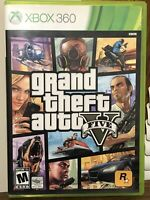 Grand Theft Auto V GTA 5 (Microsoft Xbox 360, 2013) Complete With Map Manual