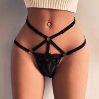 Women Lace High Waist G-string Brief Pantie Thong Lingerie Knicker Underwear