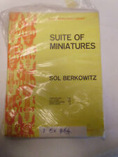 SOL berkowitz Suite Of Miniatures Set completo di SPARTITO MUSICALE musical # 12b244
