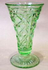 Art Deco Green Depression Glass