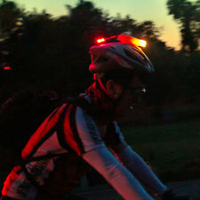 Front White Rear Red Light 2 in 1 Safety Lighting Bike Bicycle Helmet LED Lamp